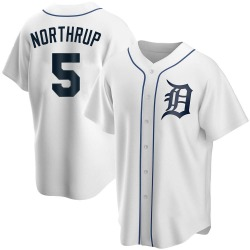Jim Northrup Detroit Tigers Youth Replica Home Jersey - White