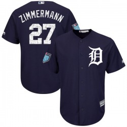 Jordan Zimmermann Detroit Tigers Youth Authentic Cool Base 2018 Spring Training Majestic Jersey - Navy