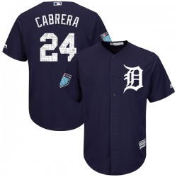 Miguel Cabrera Detroit Tigers Men's Authentic Cool Base 2018 Spring Training Majestic Jersey - Navy